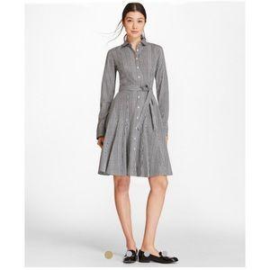 Brooks Brothers Checkered Shirt Dress Sz 8